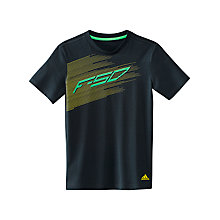 Buy Adidas F50 Boys' Graphic T-Shirt, Blue/Green Online at johnlewis.com