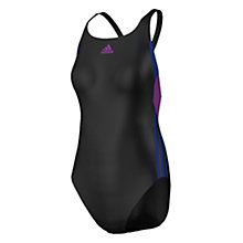 Buy Adidas Inspiration One Piece Swimsuit, Black/Blue Online at johnlewis.com