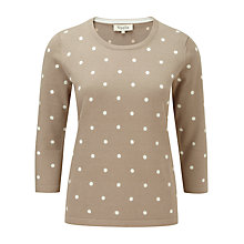 Buy Viyella Spot Print Jumper, Pumic Online at johnlewis.com