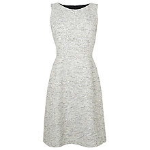 Buy L.K. Bennett Alodie Tweed Dress, Antique White Online at johnlewis.com