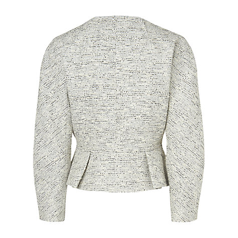 Buy L.K. Bennett Alodie Tweed Jacket, Antique White Online at johnlewis.com