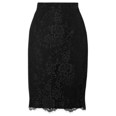 Buy L.K. Bennett Essie Lace Pencil Skirt, Black Online at johnlewis.com