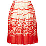 Buy L.K. Bennett Silver Satin Skirt, Champagne Online at johnlewis.com