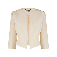 Buy L.K. Bennett Vanda Cropped Occasion Jacket, Champagne Online at johnlewis.com