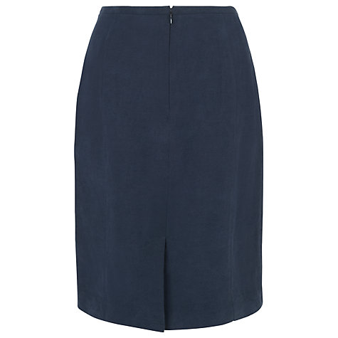 Buy L.K. Bennett Della Bias Cut Skirt, Navy Online at johnlewis.com