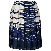 Buy L.K. Bennett Silver Pleated Skirt, Navy Online at johnlewis.com