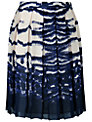 L.K. Bennett Silver Pleated Skirt, Navy