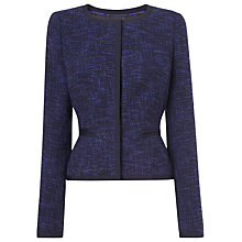 Buy L.K. Bennett Halina Tweed Jacket, Navy Online at johnlewis.com