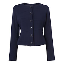 Buy L.K. Bennett Vally Seam Detail Jacket, Navy Online at johnlewis.com