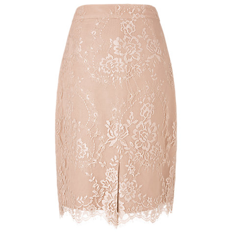 Buy L.K. Bennett Essie Lace Pencil Skirt, Powder Online at johnlewis.com
