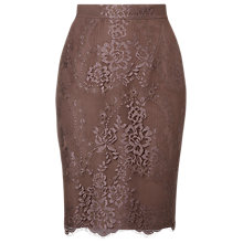 Buy L.K. Bennett Essie Lace Pencil Skirt, Quartz Online at johnlewis.com