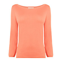 Buy L.K. Bennett Regan Slash Neck Top, Soft Peach Online at johnlewis.com
