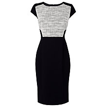 Buy L.K. Bennett Allina Tweed Dress, White Online at johnlewis.com