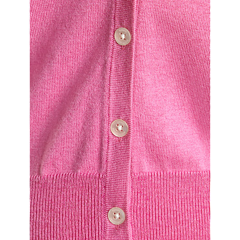 Buy Lauren by Ralph Lauren Short Buttoned Cardigan, Begonia Pink Online at johnlewis.com