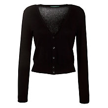 Buy Lauren by Ralph Lauren V-Neck Button Cardigan, Black Online at johnlewis.com