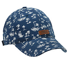 Buy Franklin & Marshall Hawaii Palm Tree Print Baseball Cap, Navy/White Online at johnlewis.com