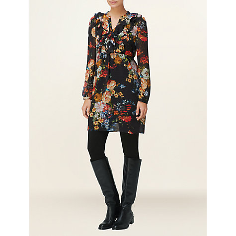 Buy Phase Eight Belle Floral Frill Dress, Multi Online at johnlewis.com