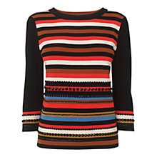 Buy Phase Eight Caitlin Embellished Stripe Jumper, Multi Online at johnlewis.com