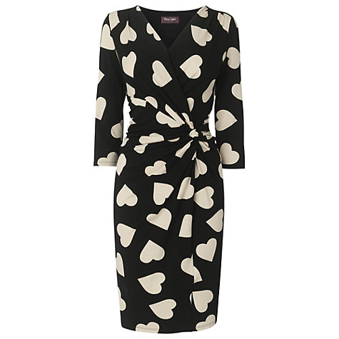 Buy Phase Eight Helen Heart Dress, Black/Stone Online at johnlewis.com