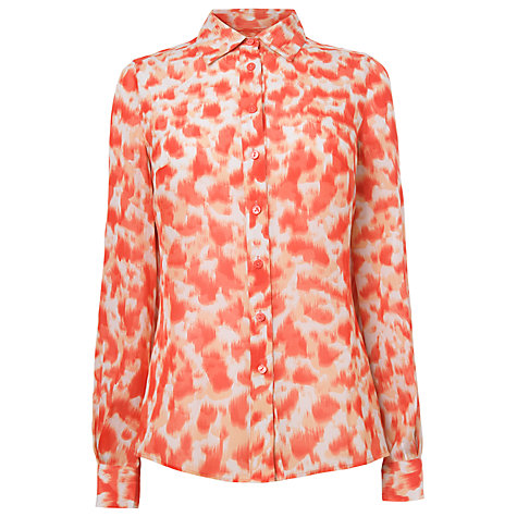 Buy L.K. Bennett Eumelia Chiffon Shirt, Berry Online at johnlewis.com