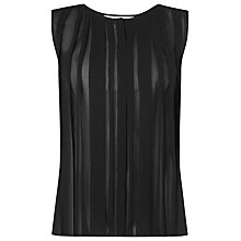 Buy L.K. Bennett May Pleated Top, Black Online at johnlewis.com