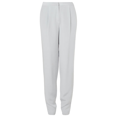 Buy L.K. Bennett Clio Silk Trousers, Crystal Online at johnlewis.com