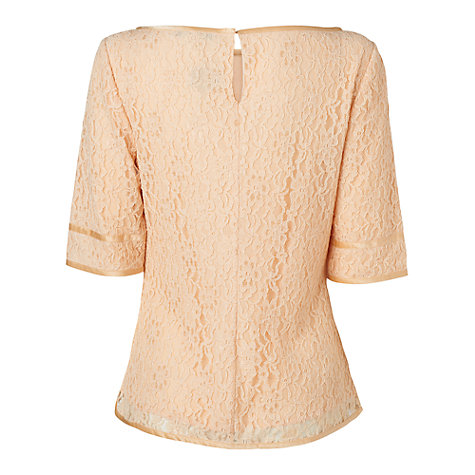Buy L.K. Bennett Celena Lace Shell Top, Nude Online at johnlewis.com