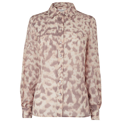 Buy L.K.Bennett Eumelia Shirt, Soft Peach Online at johnlewis.com