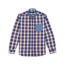 Buy Ted Baker Emlett Check Long Sleeve Shirt, Red Online at johnlewis.com