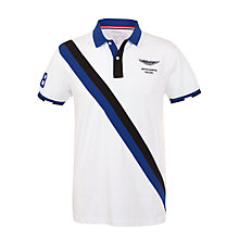 Buy Hackett London Aston Martin Racing Diagonal Stripe Polo Shirt Online at johnlewis.com