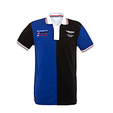 Buy Hackett London Aston Martin Racing Block Polo Shirt Online at johnlewis.com