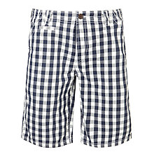 Buy Crew Clothing Vintage Bermuda Shorts, Blue/White Online at johnlewis.com