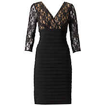 Buy Adrianna Papell Lace Sleeved Bandage Dress, Black Online at johnlewis.com