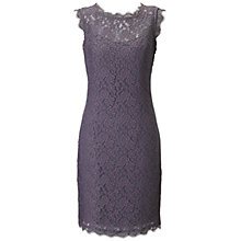 Buy Adrianna Papell Sleeveless Lace Dress, Charcoal Online at johnlewis.com