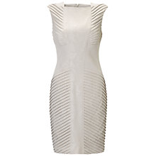 Buy Adrianna Papell Diagonal Pleat Dress, Champagne Online at johnlewis.com