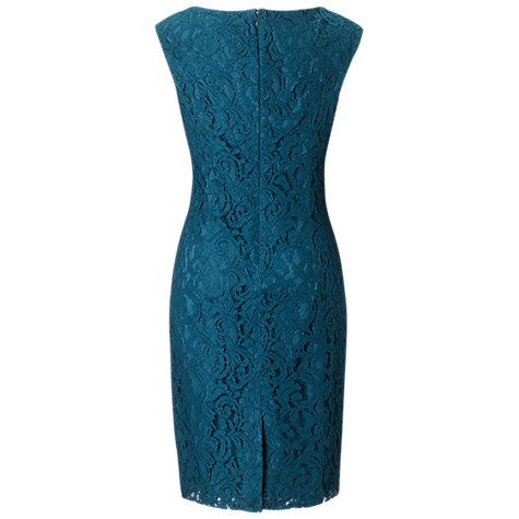 Buy Adrianna Papell Lace Sheath Dress, Teal Online at johnlewis.com