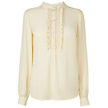 Buy L.K. Bennett Orleans Shirt, Cream Online at johnlewis.com