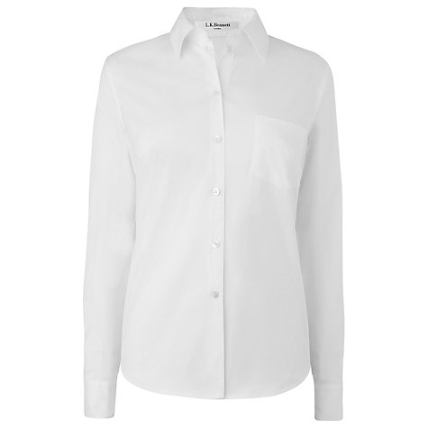 Buy L.K. Bennett Porter Shirt, Optic White Online at johnlewis.com