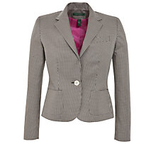 Buy Lauren by Ralph Lauren Checked One Button Jacket, Black/New Vintage Ivory Online at johnlewis.com