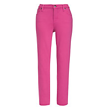 Buy Lauren by Ralph Lauren Modern Slimming Straight Leg Trousers, Begonia Pink Online at johnlewis.com