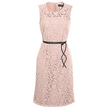 Buy Armani Jeans Lace Belted Dress, Nude Online at johnlewis.com