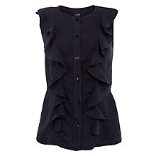 Buy Armani Jeans Linen Ruffle Top Online at johnlewis.com