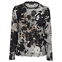 Buy James Lakeland Camo Print Top, Grey/Black Online at johnlewis.com