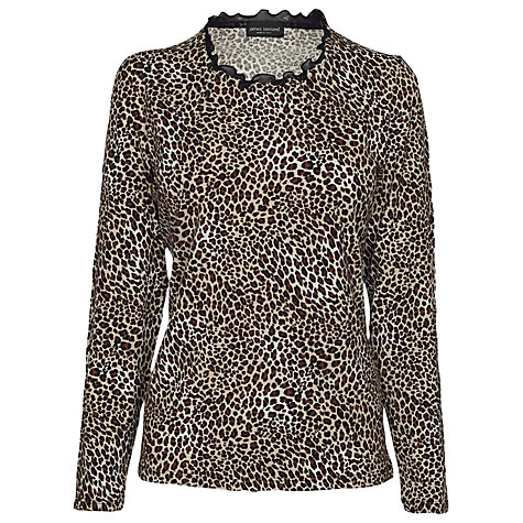 Buy James Lakeland Long Sleeve Leopard Print Top, Purple Online at johnlewis.com