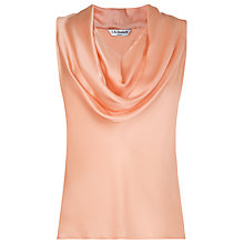 Buy L.K. Bennett Reed Cowl Neck Top, Soft Peach Online at johnlewis.com