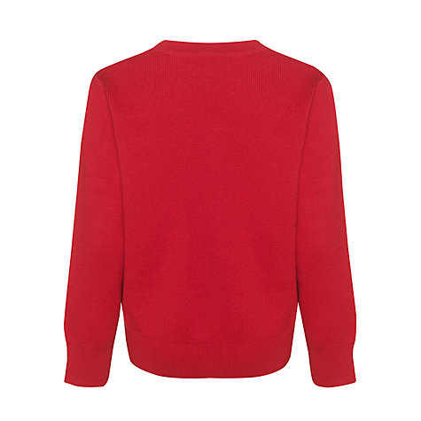 Buy John Lewis Unisex School V-Neck Jumper, Red Online at johnlewis.com