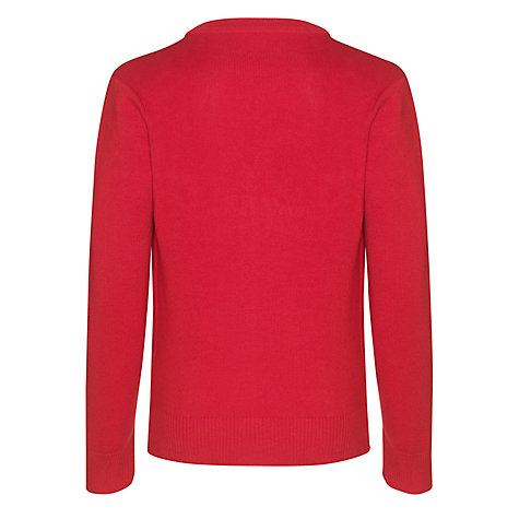 Buy John Lewis Unisex School V-Neck Cardigan, Red Online at johnlewis.com