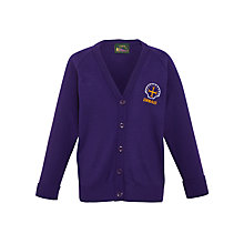 Buy Emmaus C of E and Catholic Primary School Girls' Cardigan, Purple Online at johnlewis.com