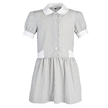 Buy Girls' School Summer Dress, Grey/White Online at johnlewis.com