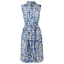 Buy L.K. Bennett Snake Print Shirt Dress, Blue Online at johnlewis.com